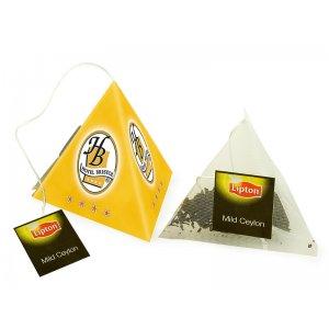 Herbata w piramidce (zawieszka handlowa)