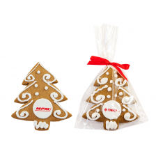 Large Decorated Christmas Tree Cookie