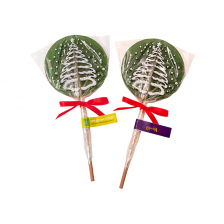 Round Lollipop with Christmas Tree